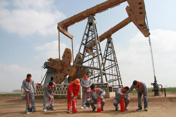 Chinese company starts drilling 1st oil well in Iraq's