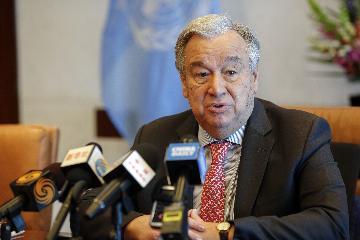 """高端访谈:""""一带一路""""是当今世界重要机遇--访联合国秘书长古特雷斯"""