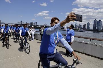联合国举行世界自行车日活动