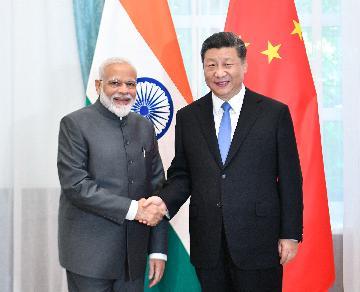 習近平會見印度總理莫迪 中印互不構成威脅