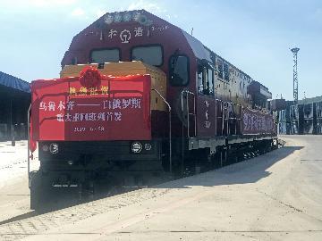 乌鲁木齐国际陆港区上半年累计开行中欧(中亚)班列410列