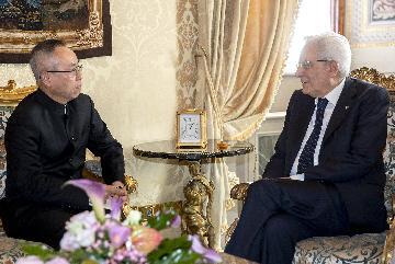"""(国际)意大利总统期待意中加强""""一带一路""""合作"""