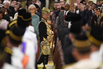 马来西亚新任最高元首正式登基