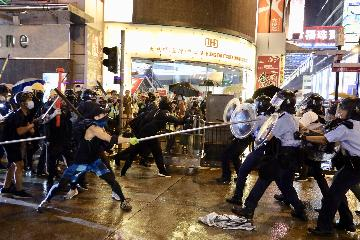 Hong Kong protests turn violent, several policemen injured