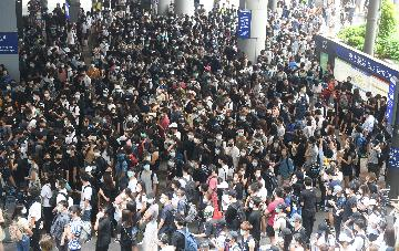 Hong Kong airport sees sharp passenger, cargo drops in August