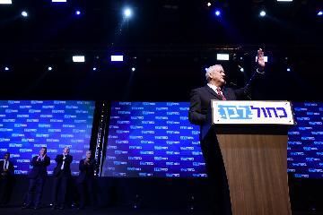 初步計票結果顯示藍白黨領跑以色列議會選舉