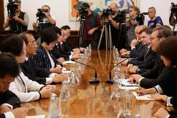 Serbia, China voice will to cement cooperation