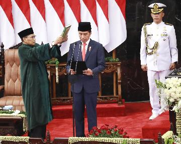 Indonesian president vows to improve human resources in 2nd term