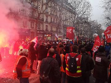 Nationwide strike in France challenging Macrons pension reform