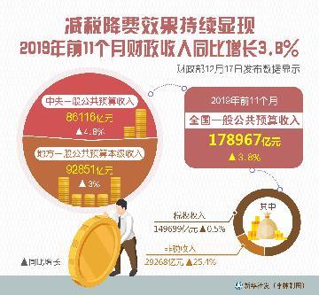 减税降费效果持续显现 前11个月财政收入同比增长3.8%