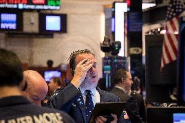 紐約股市18日觸發熔斷機制後大幅下跌