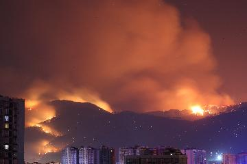 四川凉山州发生森林火灾 火场风向多变