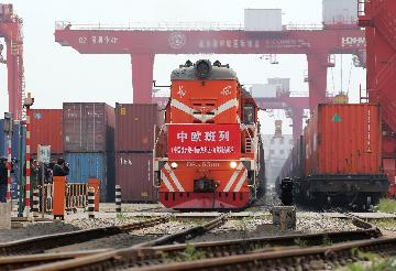 China Focus: China-Europe freight trains pick up steam amid pandemic