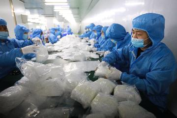 中國2020年口罩出口攤到全球每人將近40只