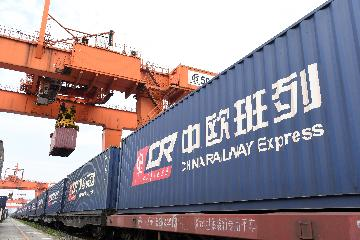 Europe-bound cargo trains from E Chinas Jiangsu up 52.9 pct