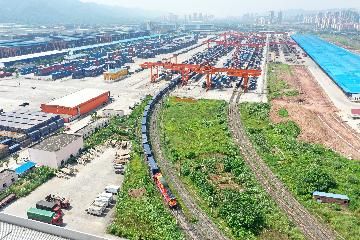 China-Europe freight train hub Chongqing sees surging trips in 2020