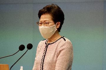 香港特区行政长官林郑月娥欢迎全国人大常委会通过香港国安法