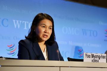 专访:世贸组织需修复三大支柱--访世贸组织总干事候选人俞明希