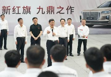 Xi stresses building strong domestic automobile brands