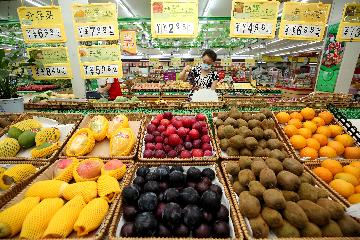 中國9月CPI同比上漲1.7%