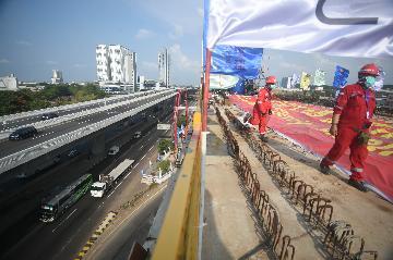 雅萬高鐵關鍵架梁通道100米跨連續梁順利合龍