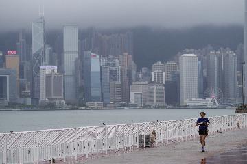 Hong Kong issues No. 8 typhoon signal as Nangka draws near