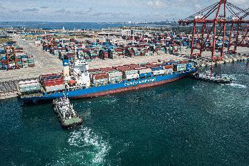 海南自贸港开通首条洲际集装箱航线