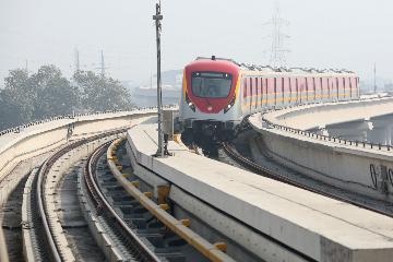 中巴经济走廊拉合尔轨道交通橙线项目正式运营