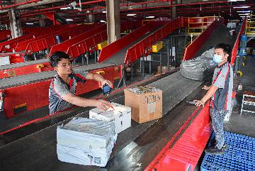 Chinese courier giant reports strong business growth in October