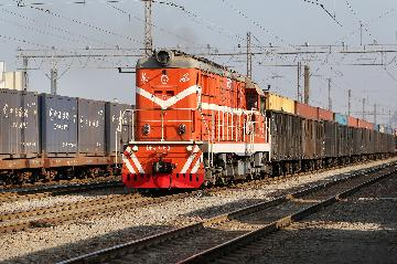 Chinas largest land port sees record number of China-Europe freight trains